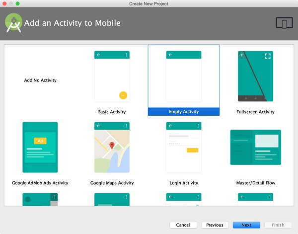 Android Studio(二):创建一个项目