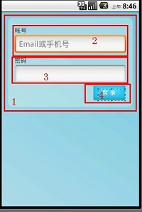 Android miniTwitter登录界面