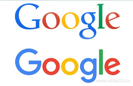 谷歌新旧Logo