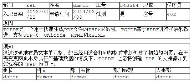 TCPDF简明教程