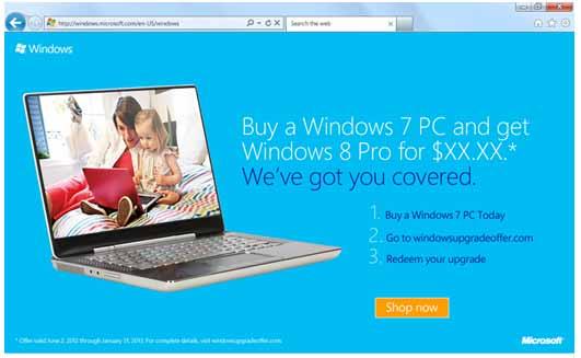 Windows 8 Pro版升级计划将于6月2日左右开始